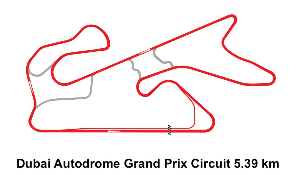 Dubai Autodrome Grand Prix Circuit 5.39 km