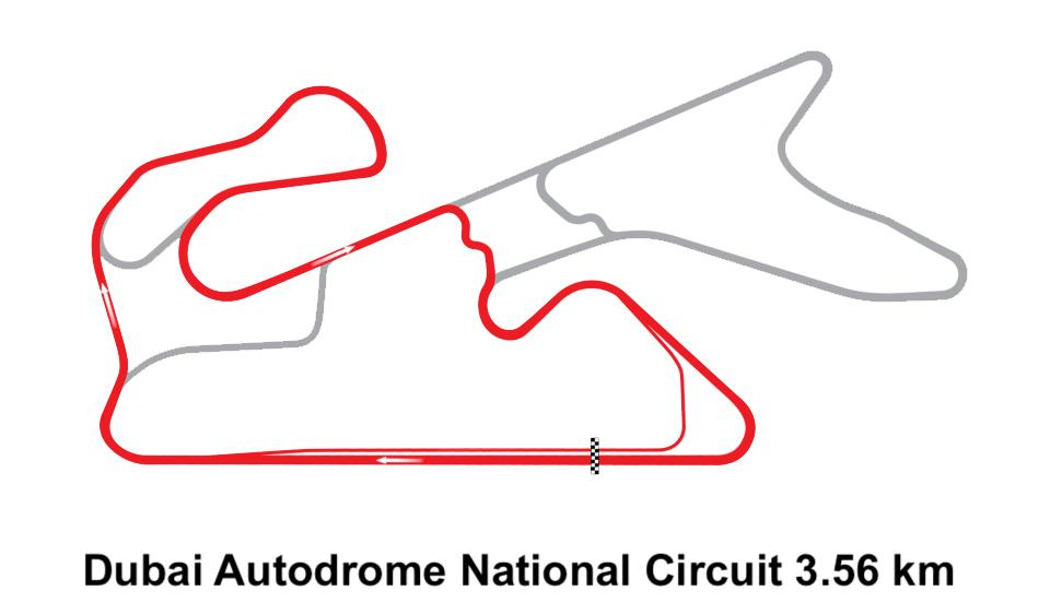 Dubai Autodrome National Circuit 3.56 km