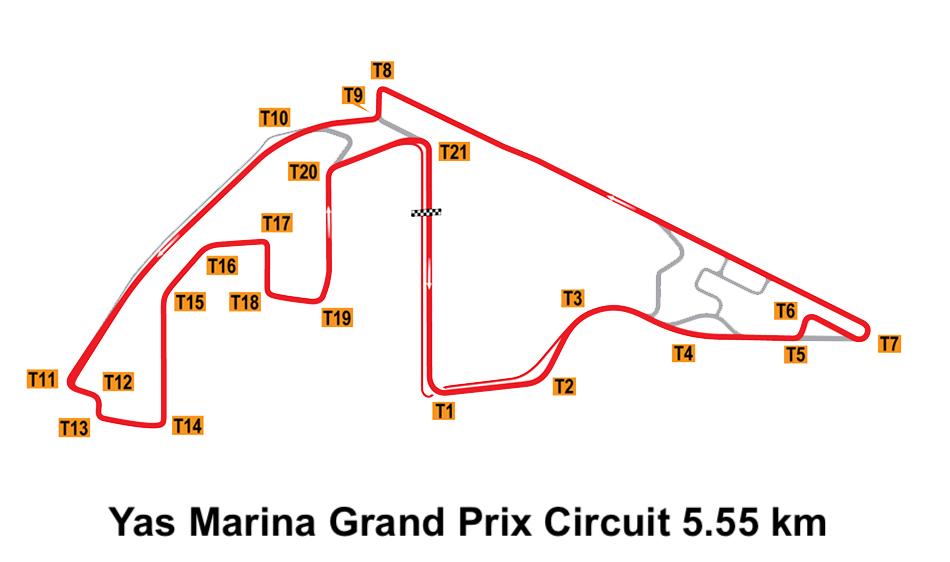 Yas Marina Grand Prix Circuit 5.55 km