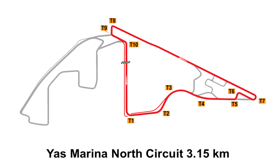 Yas Marina North Circuit 3.15 km